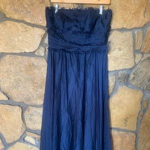 Navy Blue Bridesmaid or Prom Dress